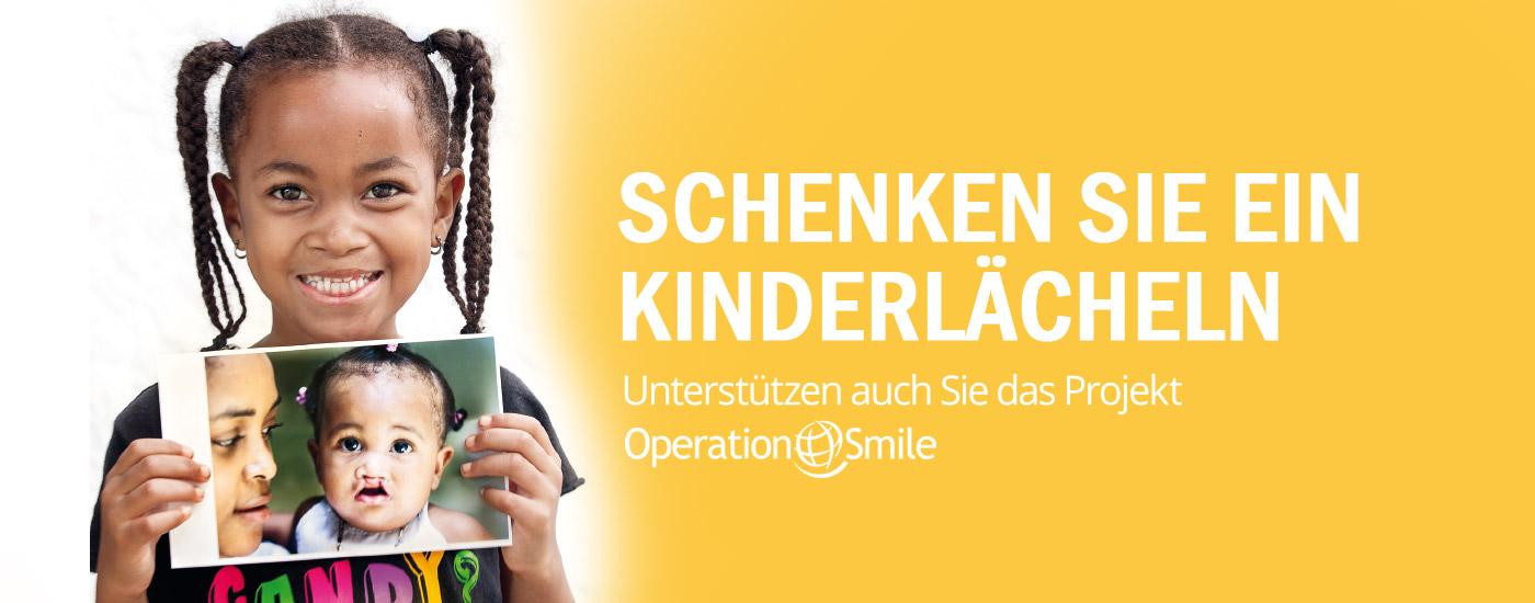 Schenken Sie ein Kinderlächeln!